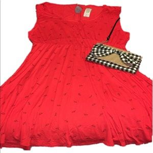 New torrid red/black Heart glasses dress 4x